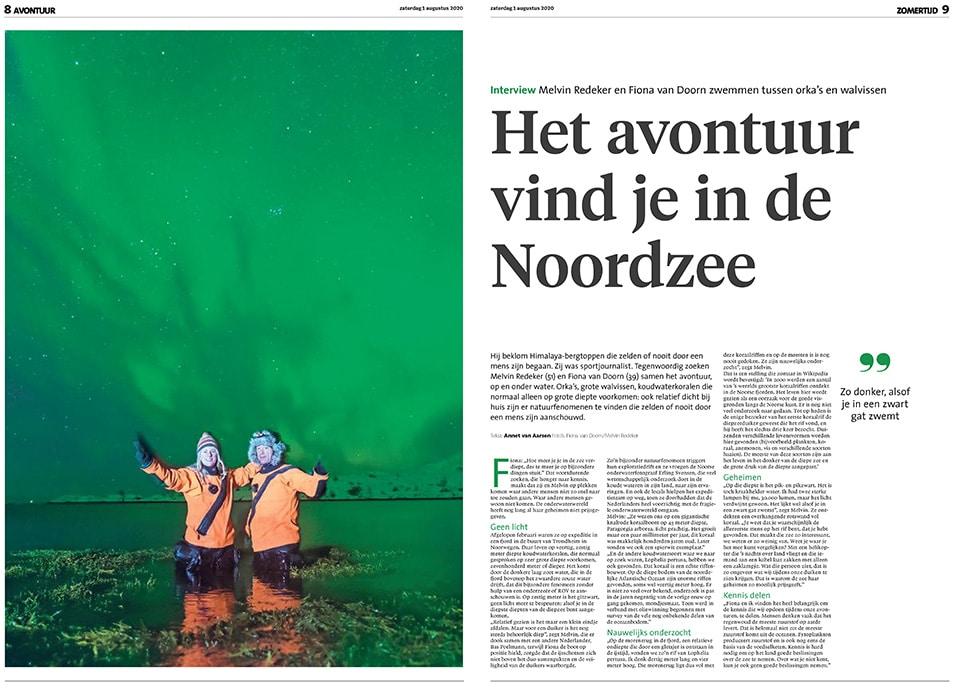Noordhollands Dagblad: avontuur in de Noordzee