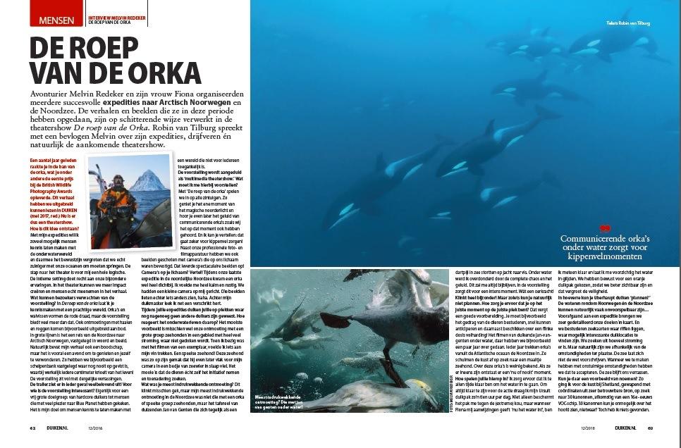 Duiken magazine: De Roep van de Orka