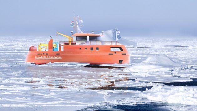 Ijsschip NL in het IJS