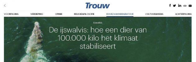 Interview in Trouw Groen over onze poolexpedities