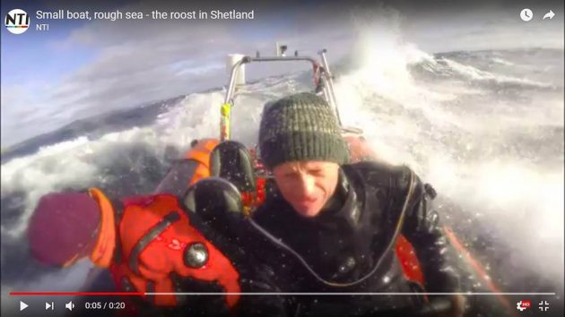 avonturier en spreker Melvin Redeker varen ruwe zee
