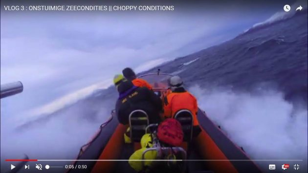 avonturier en spreker Melvin Redeker vlog onstuimige zee