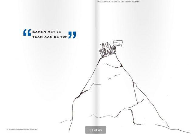 """Cartoon avonturier en spreker Melvin Redeker """"samen naar de top"""""""